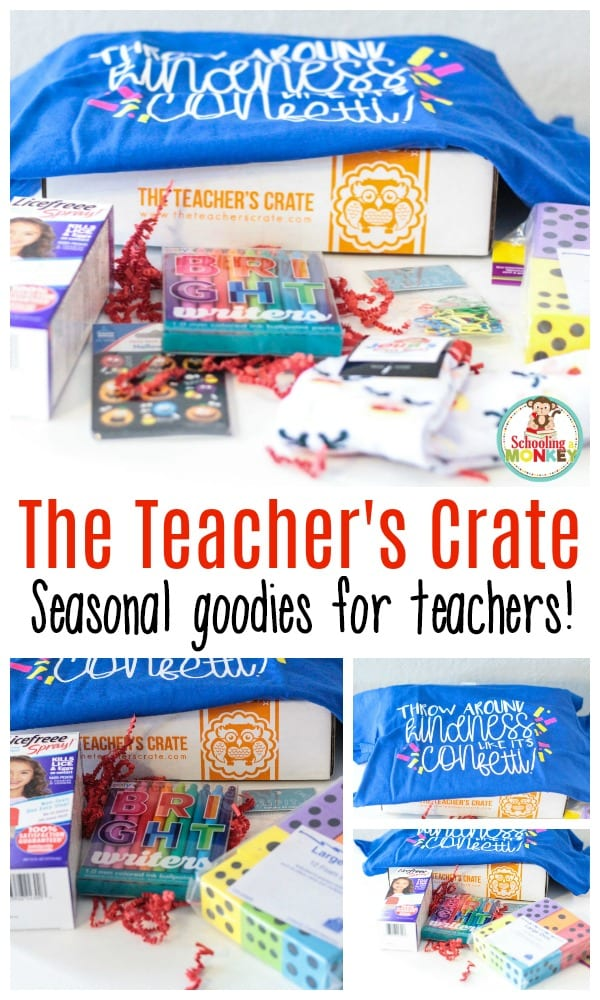 If you love teaching as much as you love surprise goodies, you won't want to miss this fun Teacher's Crate box! It's such a fun way to make teaching exciting again! #teacherlife #handsonteaching #iteach #iteachtoo