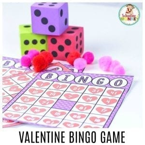 Make Math Fun with a Hands-On Valentine Bingo Game