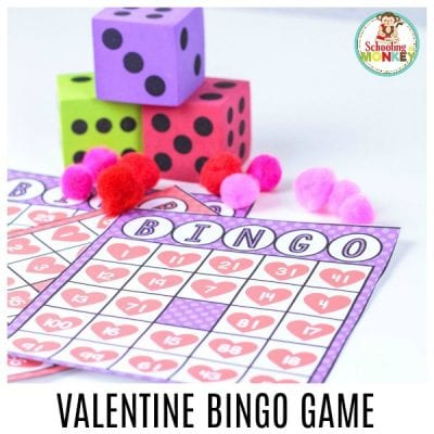 Make math fun this Valentine's Day with this printable Valentine bingo game! This game makes the perfect math activity for a Valentine's Day theme!
