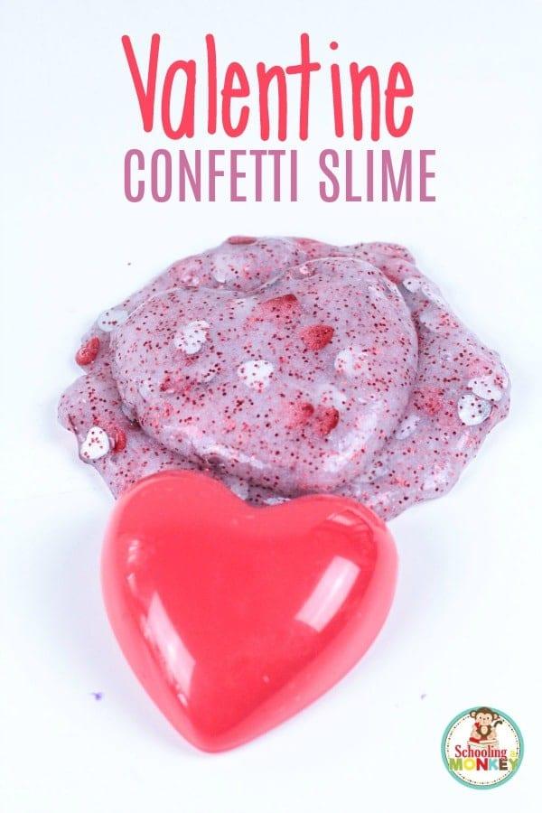 Valentine's Day confetti slime recipe
