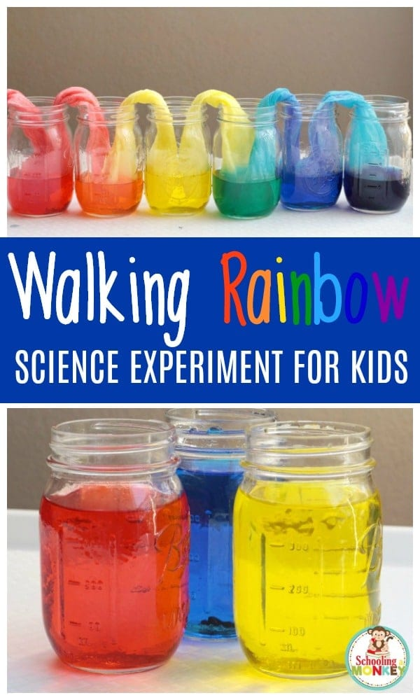 easy and fun walking rainbow science experiment. Black Bedroom Furniture Sets. Home Design Ideas