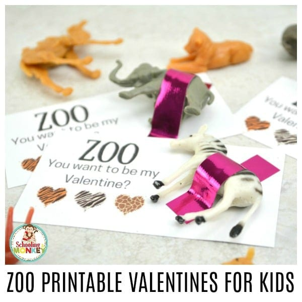 If you want the best non-candy valentine for kids, look no further than these zoo printable valentines for kids! Kids will love these punny valentines that include a toy zoo animal with every valentine.