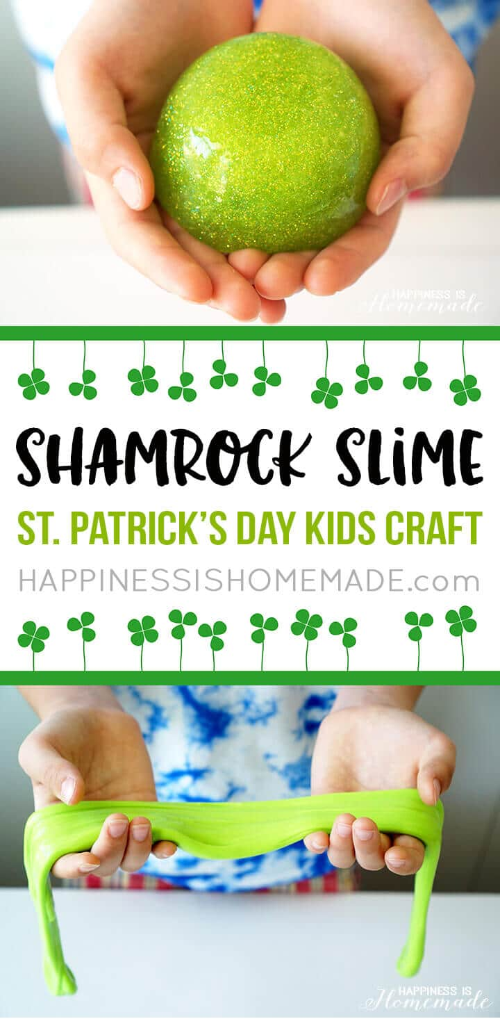 If you love slime, you'll adore these easy St. Patrick's Day slime recipes! These slime recipes for St. Patrick's Day provide the perfect balance between learning and fun. You won't want to miss trying these stretchy St. Paddy's day slime recipes!