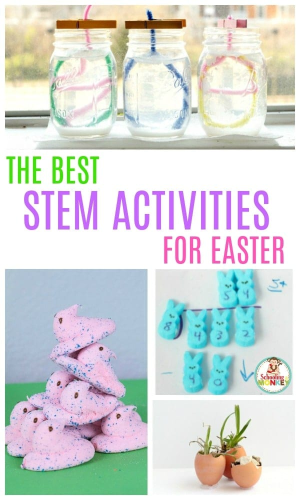 If you love Easter activities for kids, you'll love this collection of Easter STEM activities. Kids will learn all about Easter science, Easter technology, Easter engineering, and Easter math! Over 30 STEM activity ideas for Easter! #easteractivities #stemactivities #stemed #handsonlearning