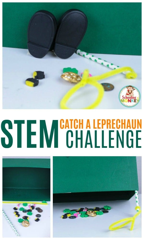 Build STEM skills in a fun way! The leprechaun trap STEM activity is a fun STEM activity for St. Patrick's Day that kids of all ages will love. Try the leprechaun trap challenge in your classroom or at home! #stemactivities #stpatricksday #kidsactivities #stem