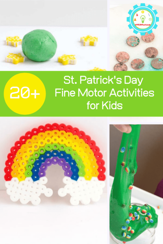 These St. Patrick's Day fine motor activities are the perfect way to help little ones build fine motor skills in a fun, seasonal way!