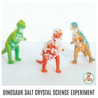 DINOSAUR SALT CRYSTAL SCIENCE EXPERIMENT FOR KIDS!