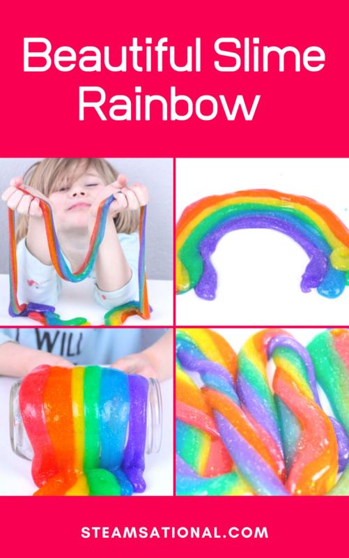 slime glitter rainbow