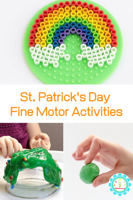 st patricks day fine motor activities