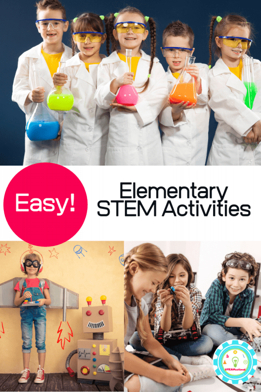 Teaching elementary science? This collection offers the best STEM activities for elementary school aged kids that are hands on, educational, and fun! Elementary STEM activities are a fun way to teach science, technology, engineering, and math! Use these STEM ideas for elementary in the classroom!