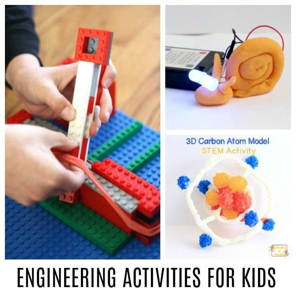 Engineering activities for kids teach a lot of useful skills, like circuits, properties of matter, physics, design, spatial awareness, and more! Kids will have a blast with these engineering activity ideas and engineering for kids has never been so fun!