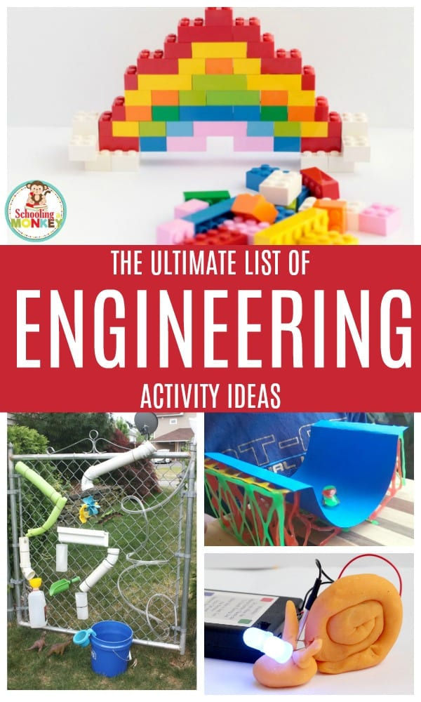 Engineering activities for kids teach a lot of useful skills, like circuits, properties of matter, physics, design, spatial awareness, and more! Kids will have a blast with these engineering activity ideas and engineering for kids has never been so fun! #engineering #engineeringactivities #stemed #stemactivities