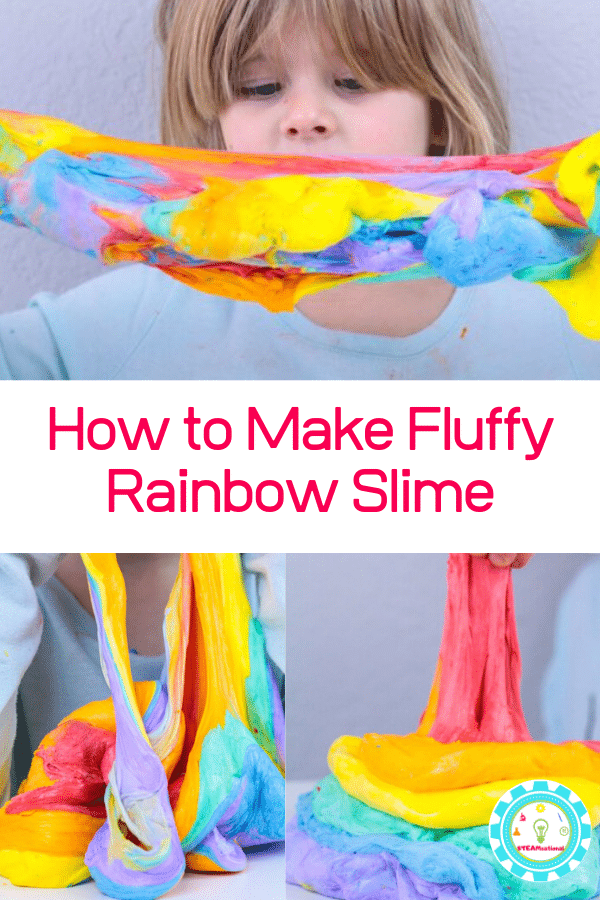 fluffy rainbow slime