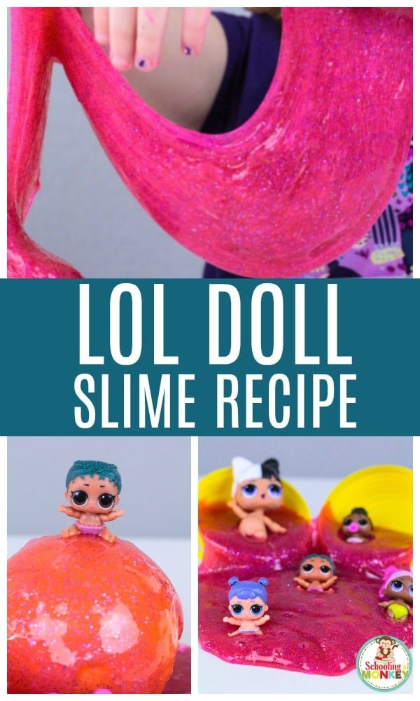 Do you love slime? Do you love LOL Dolls? Make this super fun LOL Doll slime that kids will love! This LOL Doll slime recipe makes a fun LOL Doll party favor and kids will love this new twist on LOL surprise dolls! There is so much fun with slime and LOL surprise dolls! #slimerecipes #slimer #kidsactivities #slime