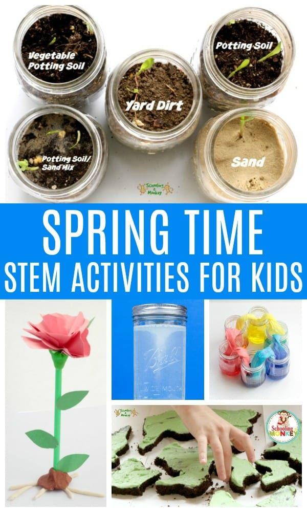 Make STEM learning more fun when you make it spring themed! These spring STEM activities for kids provide the perfect spring environment for STEM lesson plans and STEM learning challenges. Spring stem challenges are a fun way to bring STEM education into the classroom or home! #springactivities #stemed #stem #stemactivities