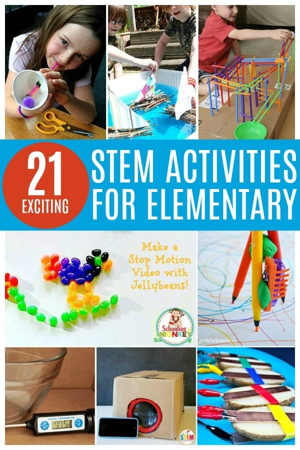 Teaching elementary science? This collection offers the best STEM challenges for elementary school aged kids that are hands on, educational, and fun! Elementary STEM activities are a fun way to teach science, technology, engineering, and math! Use these STEM ideas for elementary in the classroom! #stem #stemed #handsonlearning #scienceexperiments