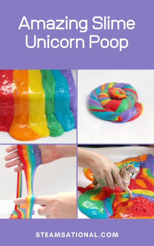 amazing slime unicorn poop
