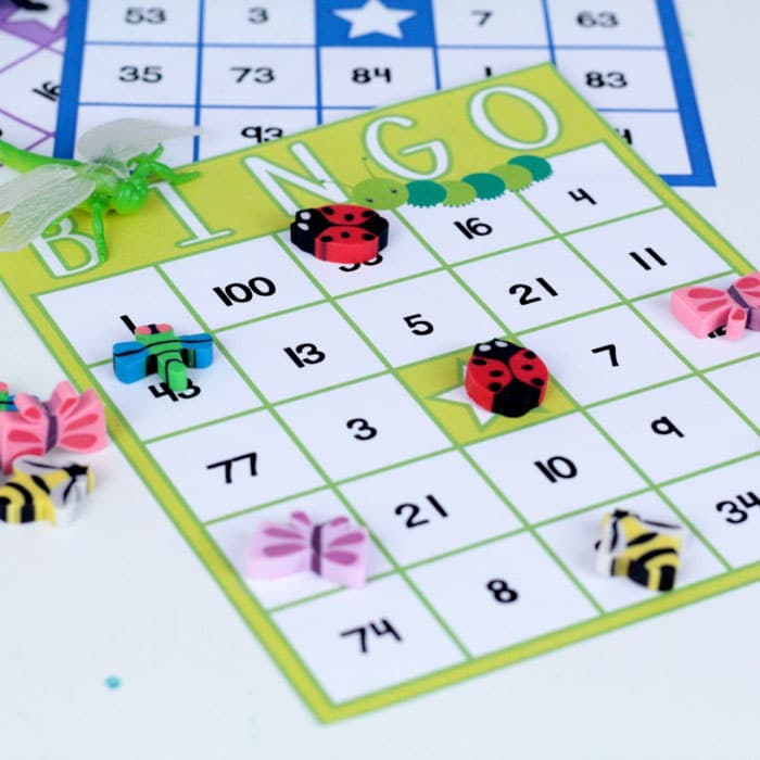 Teaching an early learning theme with bugs? Bug theme activities are so much fun! Make math more fun with these bug theme bingo cards. Bug bingo cards are so much fun, and make playing bingo fun and educational.