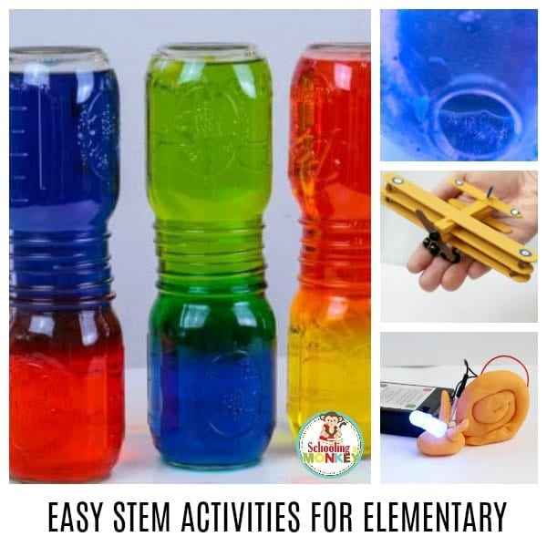 Make STEM activities fun with these easy STEM activities for elementary! These STEM activities are perfect for kids in elementary school and teach the basics of science, technology, engineering, and math in a fun and easy way! Perfect elementary STEM activities for the classroom or home!