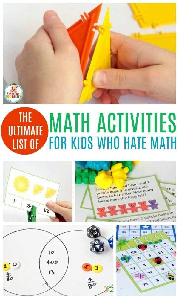 THE ULTIMATE LIST OF FUN MATH ACTIVITIES FOR KIDS