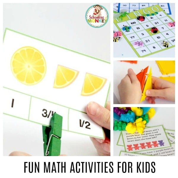 Kids will love these fun math activities for kids! Make math fun with these hands-on math activities for preschool, hands-on math activities for kindergarten, and math challenges for elementary. There is no end to what you can learn in these math challenges for kids!