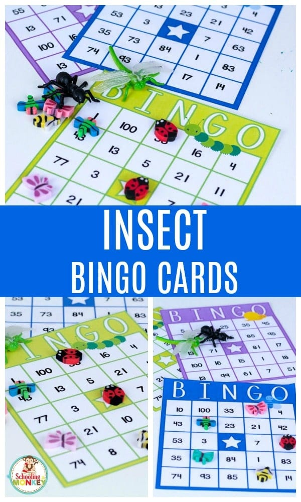 Teaching an early learning theme with bugs? Bug theme activities are so much fun! Make math more fun with these bug theme bingo cards. Bug bingo cards are so much fun, and make playing bingo fun and educational. #thematicunit #theme #bugtheme #bugs #insects #earlylearning #preschool #kindergarten #kidsactivities #bingo