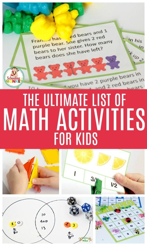 Kids will love these fun math activities for kids! Make math fun with these hands-on math activities for preschool, hands-on math activities for kindergarten, and math challenges for elementary. There is no end to what you can learn in these math challenges for kids! #math #handsonmath #mathactivities #handsonlearning #kidsactivities #iteachtoo #mathclass