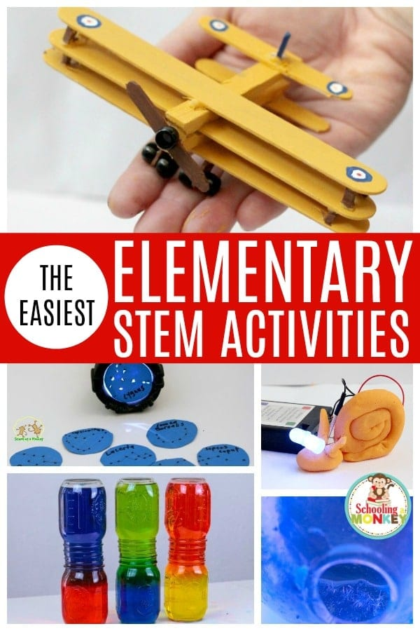 Make STEM activities fun with these easy STEM activities for elementary! These STEM activities are perfect for kids in elementary school and teach the basics of science, technology, engineering, and math in a fun and easy way! Perfect elementary STEM activities for the classroom or home! #elementary #iteachtoo #teachingresources #engineering #stem #stemed #scienceexperiments #technologyactivities #math