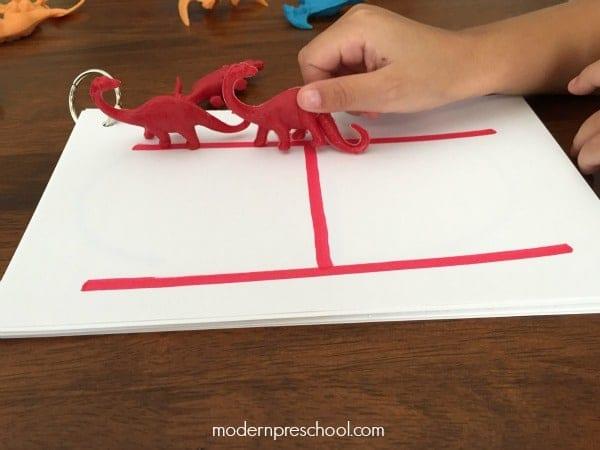 dinosaur letter tracing