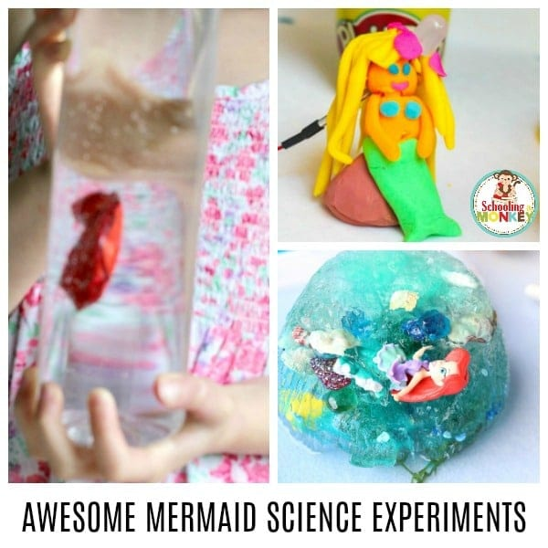 A complete list of awesome science experiments featuring mermaids. Make science fun for kids with these cool science experiments for kids! Summer science is the best science, especially when mermaids are involved! #scienceexperiments #scienceforkids #science #summeractivities #summerlearning