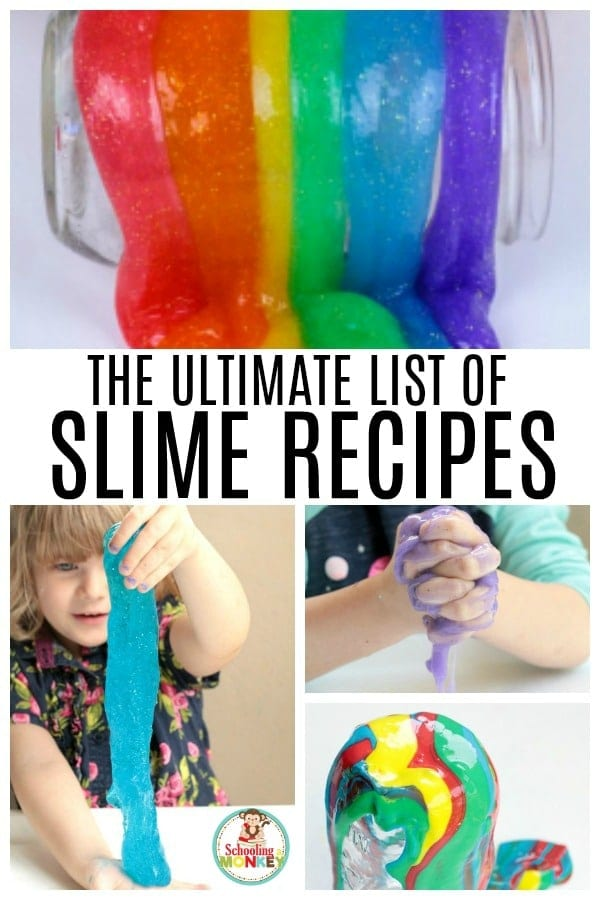 There is no end to the fun you can have with kids when making slime recipes! These stretchy slime recipes at so much fun, and this easy list of foolproof slime recipes means you'll learn how to make satisfying slime in no time and you'll get your satisfying slime recipes without the hassle. #slimerecipes #slime #slimer #kidsactivities #summerfun #sensory