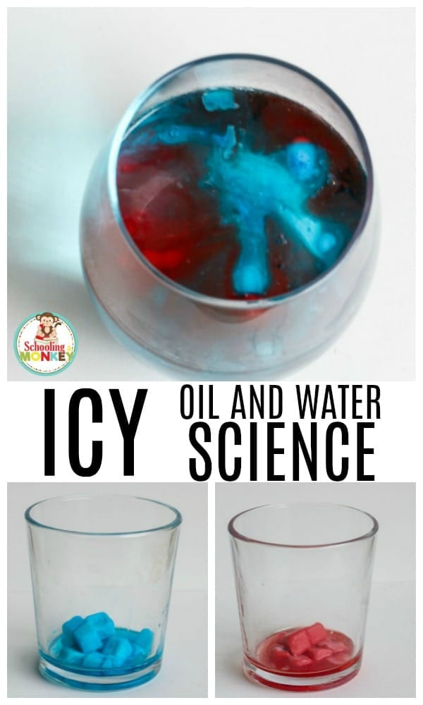 If you want a quick science experiment for little kids, try the fun oil and water science experiment! Kids will learn about the states of matter, why oil and water won't mix, and other fun science themes in this open-ended science experiment. It's the perfect easy science experiment for kids. #scienceexperiment #science #stemed #stemactivities #preschoolscience #summeractivities
