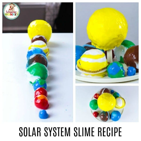 Make slime educational by making this slime model of the solar system! The solar system slime recipe is a fun way to combine space learning and slime play in one! Make learning the planets fun with this educational slime activity for kids. It's the perfect activity for a space theme! #space #planets #spacetheme #thematicunit #theme #slime #slimer #slimerecipe