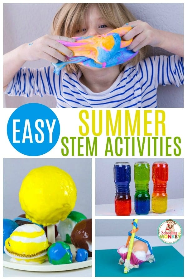 STEM challenge ideas help kids prepare for real-world challenges. Take your STEM activities up a notch with these summer STEM activities for kids. These STEM project ideas are perfect for summer learning and summer activities for kids. Make learning fun this summer with these hands-on activity ideas. #sumemrlearning #summerfun #summer #stem #stemed
