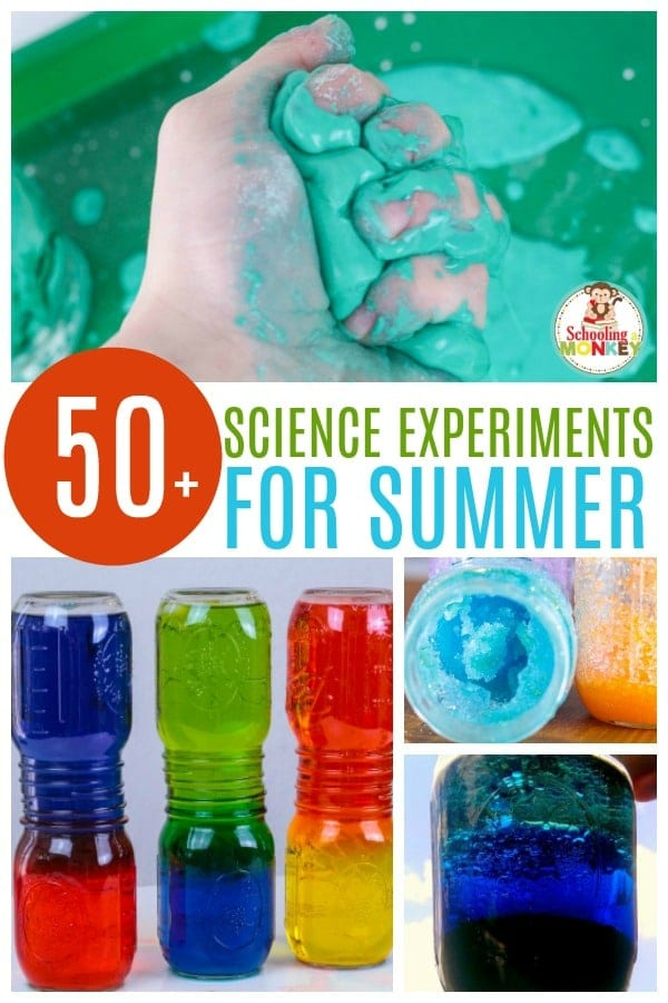 Science doesn't have to be boring. These summer science experiments provide the ultimate list of science experiments for summer, teaching kids the basics of science at home. Kitchen science is so easy when you do these science projects for kids. These science experiments for elementary are the perfect summer project! #summerlearning #science #scienceexperiments #scienceclass #learnathome #summerfun #summer