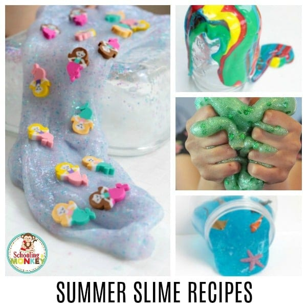 These easy slime recipes for summer are the perfect easy slime recipes for kids. Summer is the best time to try slime recipes, and this list of stretchy slime recipes are foolproof and easy enough for kids of all ages! Tween slime recipes are the best screen-free activity for summer. #slimerecipes #slime #slimer #summerfun #summeractivities #screenfreeactivities