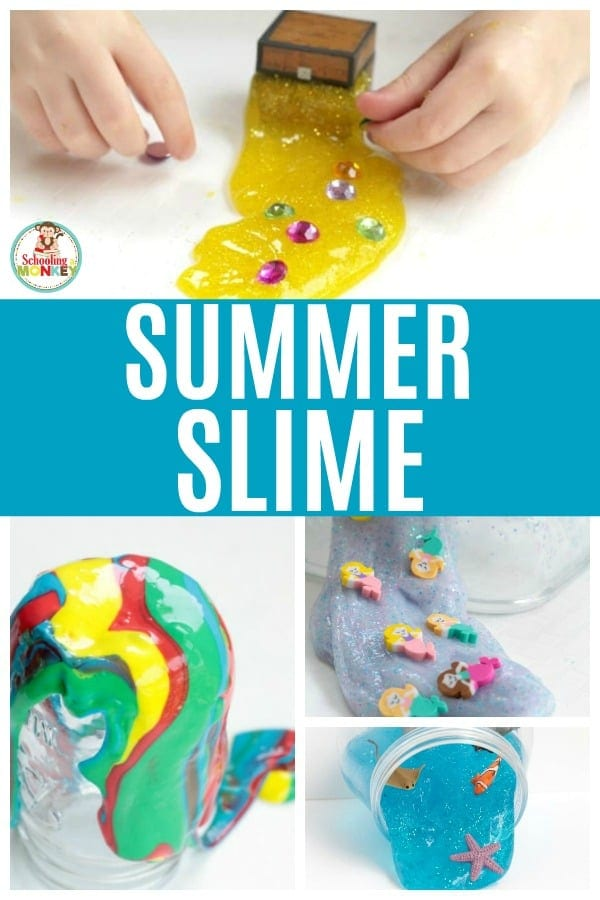 Challenge your kids to learn offline this summer with these screen-free slime recipes. Make slime learning fun and easy with these summer slime recipes. All of these recipes have been tested and are easy slime recipes that produce satisfying slime. Make your summer full of slime! #slimerecipes #slime #slimer #summerfun #summeractivities #screenfreeactivities