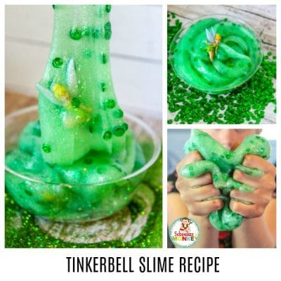 TINKERBELL SLIME RECIPE FOR DISNEY LOVERS