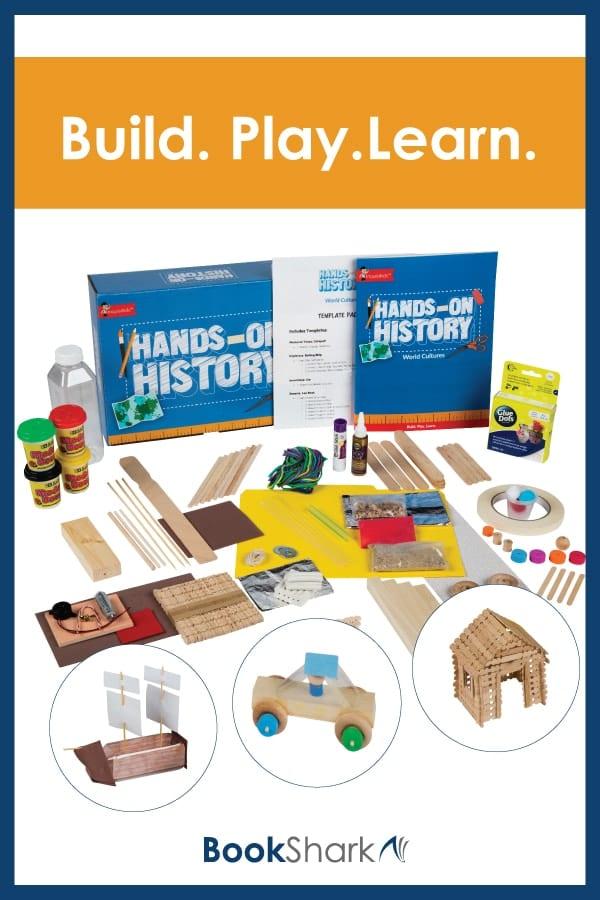bookshark hands on history kit for kindergarten