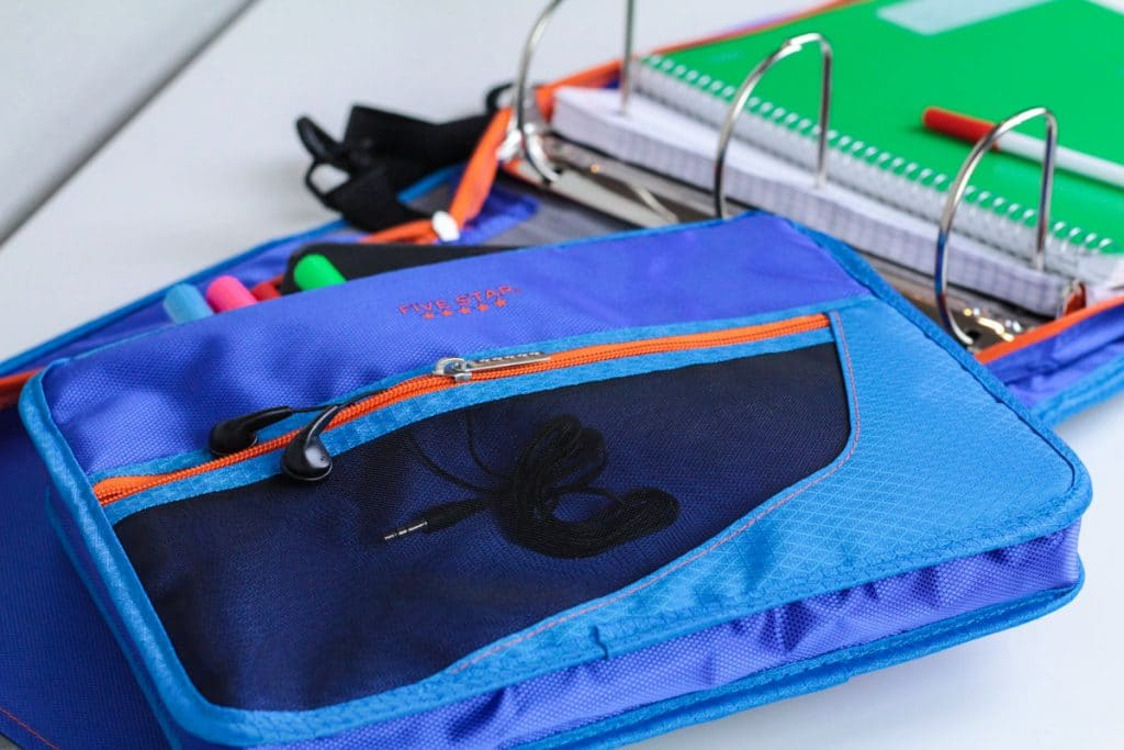 keep school supplies organized