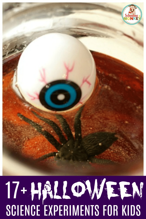 If you love Halloween and you love science, you'll have a blast with these spooky Halloween science activities. Halloween STEM activities are the perfect way to learn about science, technology, engineering, and math during the Halloween season! #scienceexperiments #science #halloween #halloweenactivities #stemactivities