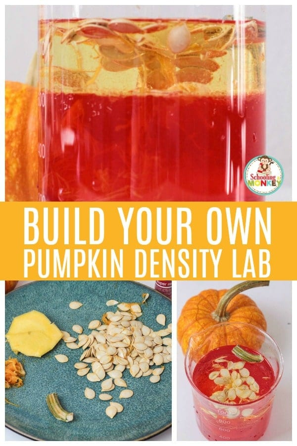 Take your density experiments to the next level with the parts of a pumpkin density experiment for kids! Building a density column has never been this fun! #stemactivities #stemed #stem #handsonlearning #fallactivities #scienceexperiments