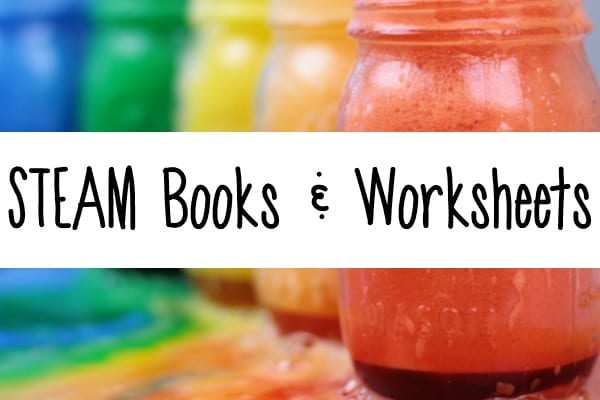 steam books and steam worksheets for kids