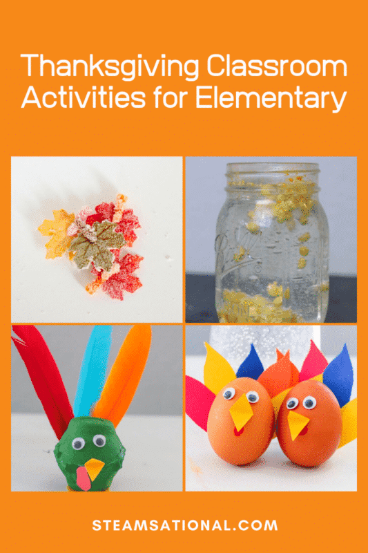 thanksgiving classroom activities elementary