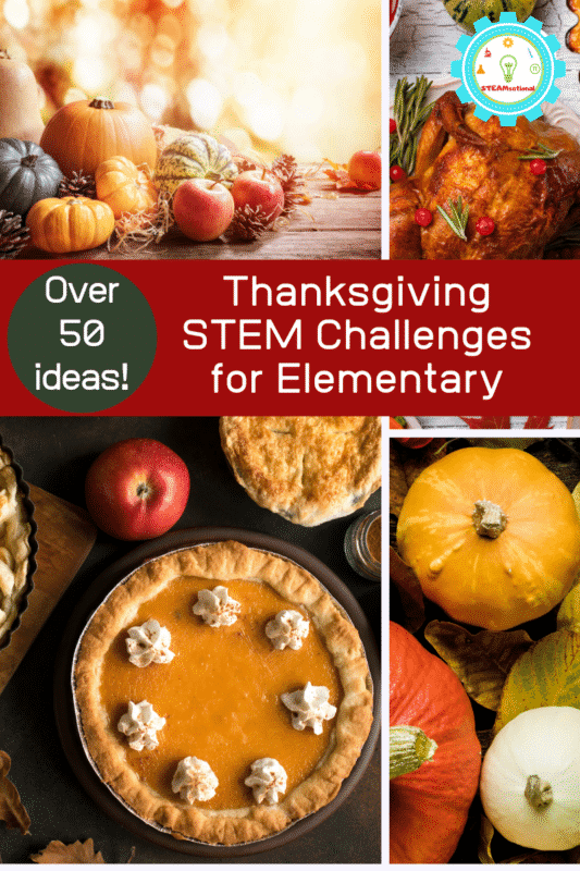 This November in your classroom (or home), show kids how science and Thanksgiving are forever combined thanks to the wonders of the baking and cooking processes with Thanksgiving STEM activities.