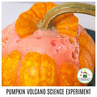PUMPKIN VOLCANO EXPERIMENT FOR KIDS