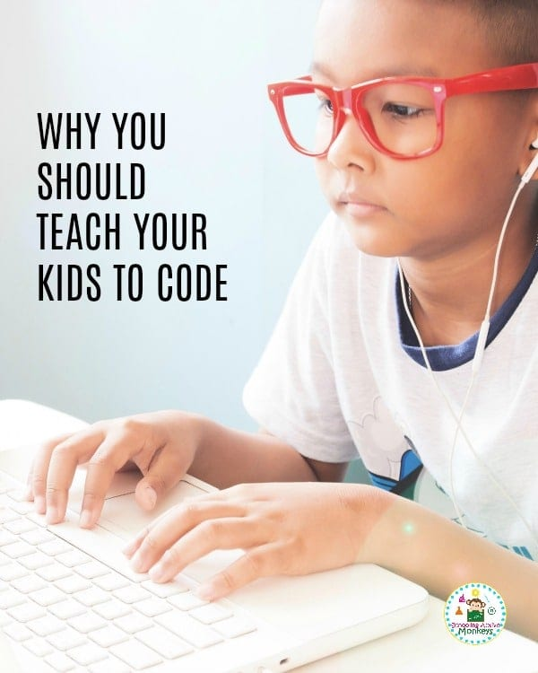 Why should kids learn to code? These 7 benefits of coding for kids might surprise you! Teaching kids how to code is a skill that has far-reaching benefits beyond basic computer skills. #technology #technologyactivities #coding #code #stemed #stemactivities