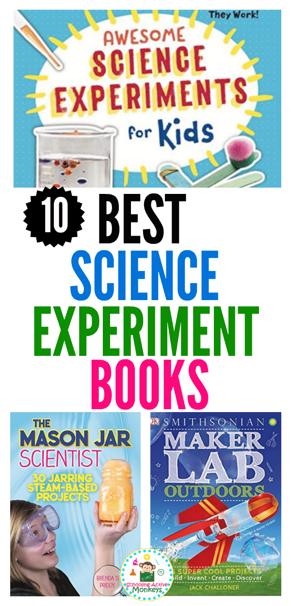 Children's science books can help foster a love of science and learning from a young age. This collection of the best science books for kids include hundreds of science experiments for kids that they will love! These science gifts for kids provide the perfect gift for any science lover. #scienceexperiments #giftideas #giftguide #STEAMactivities #STEMactivities