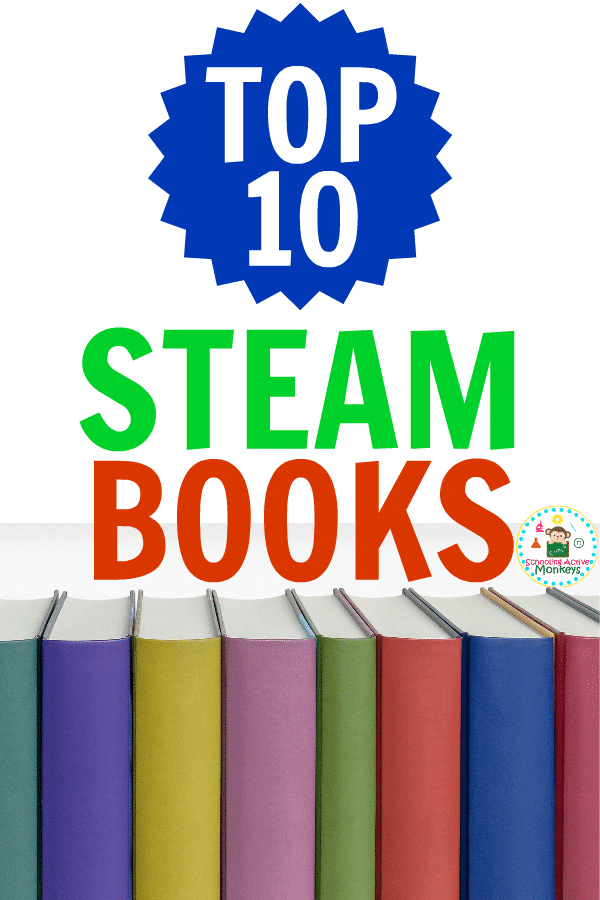 Do your kids love STEAM activities? Encourage a love of learning and exploring in your kids this Christmas with these STEAM books for kids! The best STEAM books are filled with hands-on STEAM activities that will delight kids of all ages. Encourage a love of STEM in your house with this gift guide of top 10 STEAM books for kids! #stemactivities #steam #handsonlearning #scienceexperiments #giftguide