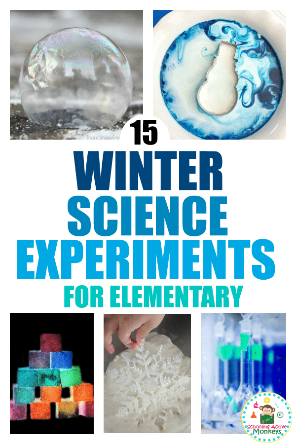 Winter science experiments for elementary kids are the perfect science experiments for kids to try during the winter months! Whether doing classroom science experiments or home science experiments, these ice experiments for elementary school will make learning science fun! #scienceexperiments #stemactivities #stemed #winteractivities #scienceclass